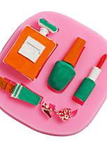 cheap -1pcs Perfume Nail Polish Cosmetics Silicone Cake Decoration Mold DIY