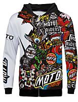 Недорогие -мото мотокросс флисовая толстовка верховая одежда одежда для горных видов спорта на открытом воздухе повседневная куртка для взрослых с длинными рукавами теплее из полиэстера / воздухопроницаемая /