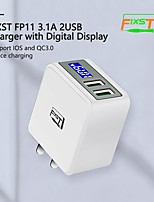 cheap -12 W Fast Charger USB Charger Universal Charger Kit 2 USB Ports 2.5 A 110~220 V for Universal
