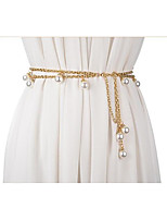 cheap -Metalic Wedding / Party / Evening Sash With Belt Women's Sashes