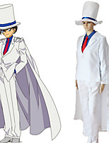 cheap -Inspired by Detective Conan Kid the Phantom Thief Anime Cosplay Costumes Japanese Cosplay Suits Blouse Top Pants For Men's / Cloak / Cap / Tie