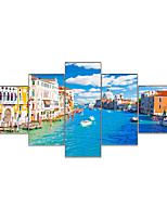 cheap -AMJ Hot Sale Venice Lake Union Painting Living Room Sofa Background Wall Decoration Canvas Picture Frameless Core
