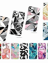 cheap -Case For Apple iPhone 11 / iPhone 11 Pro / iPhone 11 Pro Max Frosted / Pattern Back Cover Geometric Pattern TPU