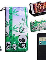 cheap -Case For Samsung Galaxy S9 / S9 Plus / S8 Plus Wallet / Card Holder / with Stand Full Body Cases Panda PU Leather / TPU