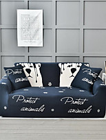 cheap -Navy Blue Bear Print Dustproof All-powerful Slipcovers Stretch Sofa Cover Super Soft Fabric Couch Cover with One Free Pillow Case