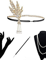 cheap -Dance Accessories 1920s / The Great Gatsby Women's Alloy Crystals Vintage / Costume & Disguise Headpiece / Sleeves / Necklace