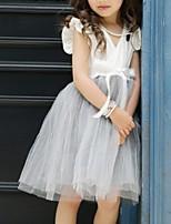 cheap -Kids Girls' Color Block Dress White