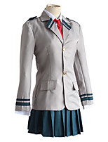 cheap -Inspired by My Hero Academia Boko No Hero Ochaco Uraraka Anime Cosplay Costumes Japanese Cosplay Suits Coat Tie For Women's
