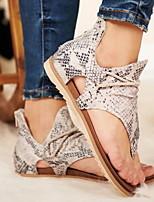 cheap -Women's Sandals Very G-Sparta Flat Heel Round Toe PU Summer Black / Yellow