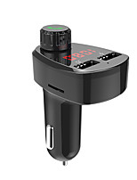 cheap -G13 Bluetooth Car FM Transmitter Wireless Audio Adapter and Receiver Bluetooth 4.2 Car Locator 2 USB ports PowerIQ AUX Out USB Drive Slot