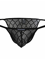 cheap -Men's Mesh Briefs Underwear - Normal Low Waist Black M L XL