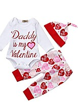cheap -Baby Girls' Street chic Print Long Sleeve Regular Clothing Set White
