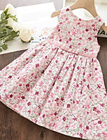 cheap -Kids Girls' Floral Dress Blushing Pink