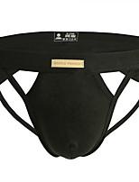 cheap -Men's Cut Out G-string Underwear - Normal Low Waist Black White Orange S M L