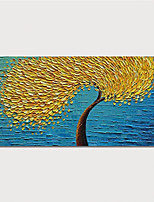cheap -Hand Painted Rolled Canvas Oil Painting  Abstract Tree by Knife Home Decoration  Painting Only
