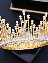 cheap -Women's Tiaras For Wedding Party Evening Prom Festival Art Deco Alloy Golden Silver 1pc