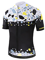 cheap -21Grams Men's Women's Short Sleeve Cycling Jersey 100% Polyester Black / White Patchwork Bike Jersey Top Mountain Bike MTB Road Bike Cycling UV Resistant Breathable Quick Dry Sports Clothing Apparel