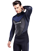 cheap -Men's Full Wetsuit 3mm SCR Neoprene Diving Suit Thermal / Warm Stretchy Long Sleeve Back Zip - Diving Water Sports Solid Colored Autumn / Fall Spring Summer / Winter / High Elasticity