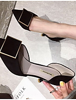Недорогие -Жен. Обувь на каблуках На шпильке Заостренный носок Замша Лето Черный / Серый