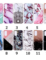 cheap -Case For Samsung Galaxy S20 S20Plus S8 Plus Pattern Back Cover Flower TPU S8 S10 S10plus note9 note10 note10pro note10plus A10 A20 A50 A70 M10 M20 Simple marble pattern IMD process TPU material mobile