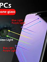 Недорогие -3шт HD защита глаз от синего фиолетового света Iphone X / XS / XR / XS Макс / 11 / 11Pro / 11Pro Макс сотовый телефон защиты экрана закаленная пленка