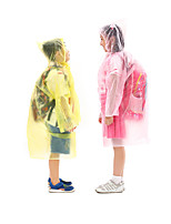 cheap -Boys' Girls' Hiking Raincoat Winter Outdoor Portable Windproof Breathable Ultra Light (UL) Poncho Invisible Camping / Hiking Hunting Fishing Yellow / Pink