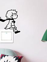 Недорогие -Геометрия Наклейки Люди стены стикеры Наклейки для выключателя света, PVC Украшение дома Наклейка на стену Стена / Переключения Украшение 1шт