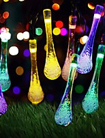 cheap -5m String Lights Solar 20LED Water Drop Raindrop Light String Outdoor Waterproof Christmas Garden Park Bar Cabaret Lantern Ribbon