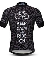 Недорогие -21Grams Муж. С короткими рукавами Велокофты Черный / Белый Шестерня Велоспорт Джерси Верхняя часть Горные велосипеды Шоссейные велосипеды Устойчивость к УФ Дышащий Быстровысыхающий Виды спорта Одежда