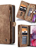 Недорогие -Caseme Luxury Business кожаный магнитный флип чехол для Samsung Galaxy S20 / S20 Plus / S20 Ultra / Note 10 / Note 10 Plus / S10 Plus / S9 Plus / S8 Plus / S10 / S9 / S8 слот для карт памяти слот