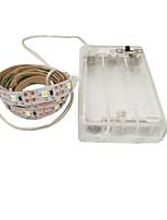 Недорогие -0.5м гибкие светодиодные полосы гибкие огни tiktok 30 светодиодов 2835 smd 8мм 1шт теплый белый / белый / красный декоративные батареи с питанием