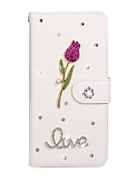 cheap -Case For Samsung Galaxy S9 / S9 Plus / S8 Plus Wallet / Card Holder / Rhinestone Full Body Cases Solid Colored PU Leather