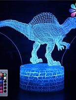 Недорогие -3d динозавр ночник иллюзия лампа 16 изменение цвета декор лампа с пультом дистанционного управления для гостиной кровать бар лучший подарок игрушки для мальчиков девочек