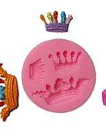 Недорогие -3d diy инструменты для выпечки шоколадный торт силиконовые три короны фондант формы 1 шт.