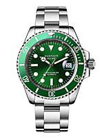 cheap -GUANQIN Men's Mechanical Watch Japanese Automatic self-winding Formal Style Classic Style Stainless Steel Silver 100 m Water Resistant / Waterproof Day Date Analog - Digital Outdoor Fashion - Green