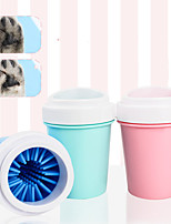 cheap -Dog Cat Cleaning Plastic Dog Clean Supply Baths Casual Pet Grooming Supplies Pink Green Blue