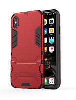 Недорогие -Кейс для Назначение Apple iPhone 11 / iPhone 11 Pro / iPhone 11 Pro Max Матовое Кейс на заднюю панель Плитка ТПУ / Металл