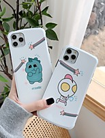 cheap -Case For Apple iPhone 11 / iPhone 11 Pro / iPhone 11 Pro Max IMD Back Cover Tile / Cartoon TPU / Silica Gel