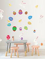 Недорогие -Пасхальное яйцо кролик / цветы наклейки на стену самолет наклейки на стены декоративные наклейки на стены пвх украшения дома наклейки на стены / окна 1 шт. 27 * 97 см