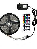Недорогие -5м гибкие светодиодные полосы RGB TIKTOCK 150 светодиодов SMD5050 10 мм 1 адаптер 12В 6а / 1 пульт дистанционного управления 44 ключа 1 комплект RGB TIKTOCK