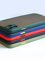 Недорогие -чехол для телефона iphone 11 pro max / 11pro / 11 роскошный контрастный цвет рамки матовый жесткий ПК защитный чехол для iphone xs max / xr / xs / 8plus / 7plus / 8/7 чехол