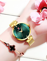 cheap -Women's Steel Band Watches Luxury Fashion Stainless Steel Japanese Quartz Rose Gold Purple Green Water Resistant / Waterproof 30 m 1 pc Analog One Year Battery Life