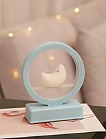 Недорогие -1 шт. Новый светодиодный ночник музыкальная шкатулка освещения формы луны ааа батареи питания лампы теплое белое освещение в розовый / синий корпус для детей подарок музыкальная шкатулка домашняя