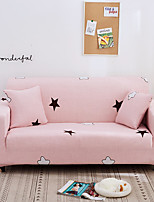cheap -Kawaii Pink Stars Print Dustproof All-powerful Slipcovers Stretch Sofa Cover Super Soft Fabric Couch Cover with One Free Pillow Case