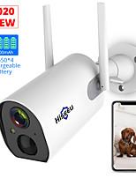 Недорогие -Hiseeu C20 2 беспроводной открытый безопасности IP-камера с батарейным питанием перезаряжаемый 1080 P HD расширенная камера Wi-Fi Ip65 водонепроницаемый пир сигнализация