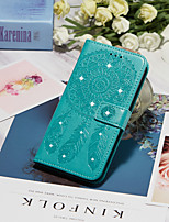 cheap -Case For Apple iPhone 11 / iPhone 11 Pro / iPhone 11 Pro Max Wallet / Card Holder / Rhinestone Full Body Cases Feathers PU Leather