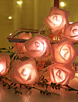 Недорогие -1 м 10led батарея теплый белый светодиод роза рождественские огни праздник шнуры огни валентина свадебные украшения цветочные луковицы светодиодные лампы