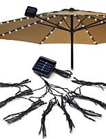 Недорогие -72 светодиодные солнечные садовый зонт свет на открытом воздухе водонепроницаемый ip67 струнные фонари датчик освещенности сада декоративные лампы 1 комплект