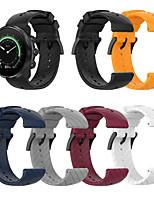Недорогие -Ремешок для часов для SUUNTO 9 / SUUNTO Spartan Sport / Suunto Spartan Sport Wrist HR Baro Suunto Классическая застежка силиконовый Повязка на запястье