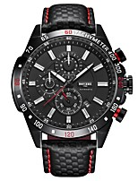 cheap -Men's Sport Watch Automatic self-winding Modern Style Sporty Genuine Leather Black 30 m Water Resistant / Waterproof Calendar / date / day Shock Resistant Analog Casual Outdoor - Black / Silver Black